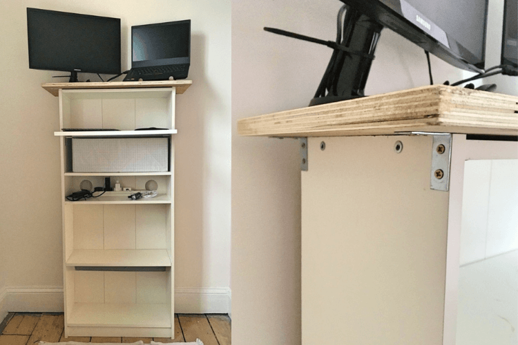 shelf unit standing desk