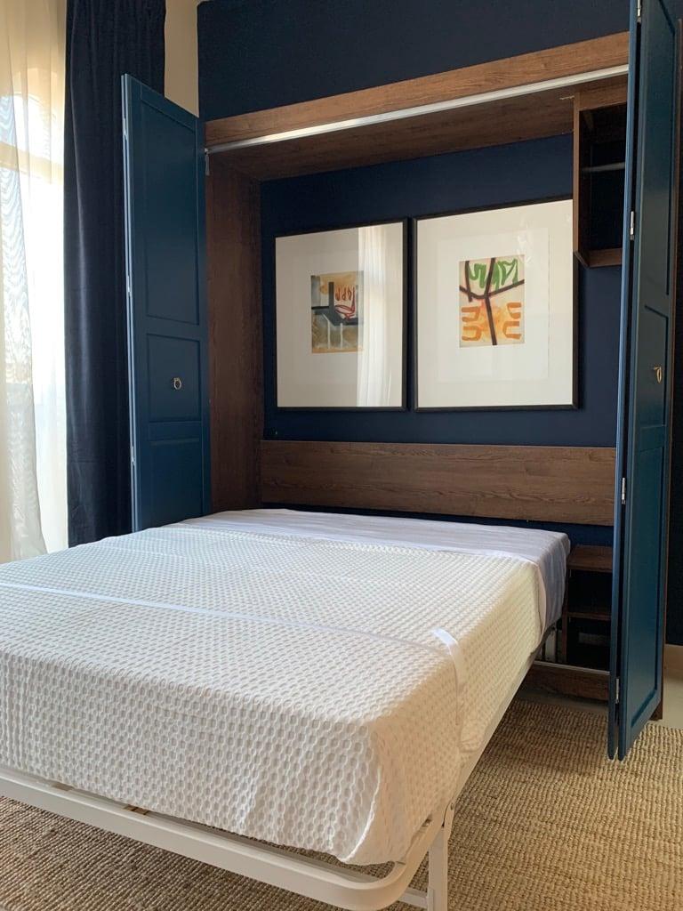 next bed murphy bed installed in pax wardrobe