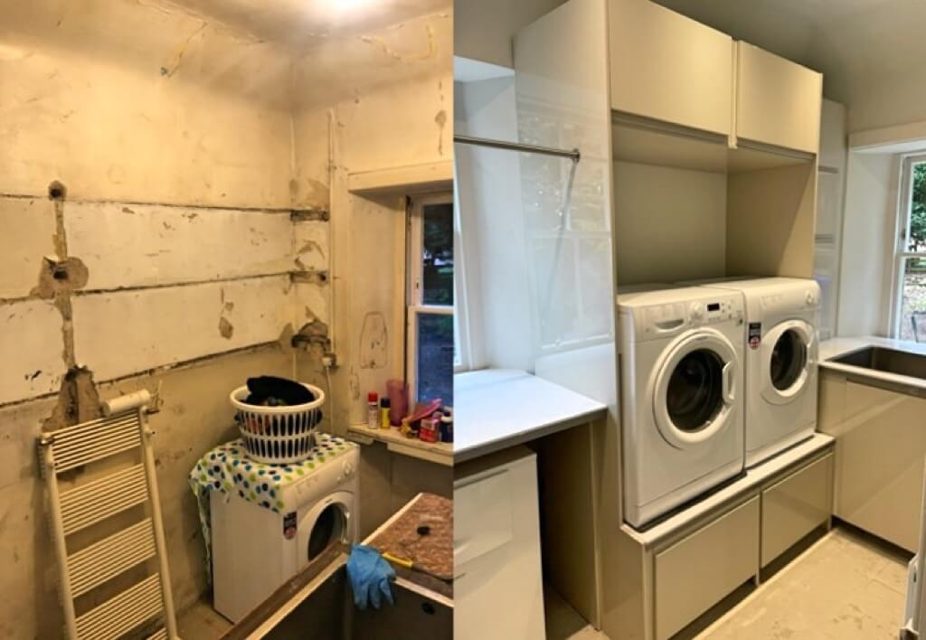 laundry room pedestal with drawers