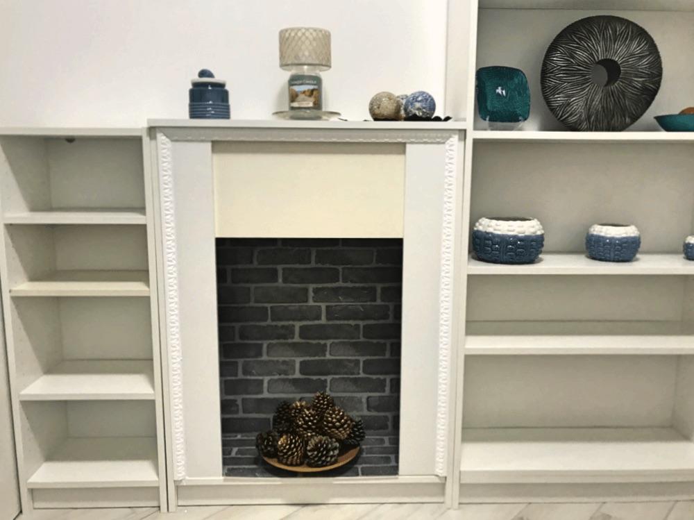 decorative fireplace ikea billy hack
