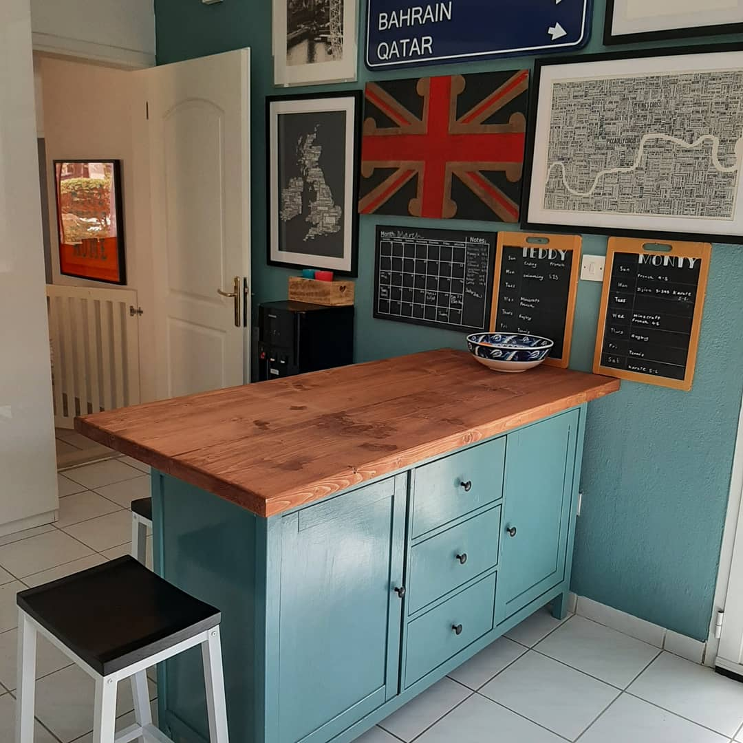 IKEA HEMNES kitchen peninsula hack