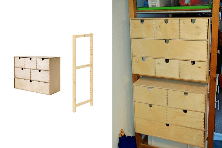 ivar mini drawers