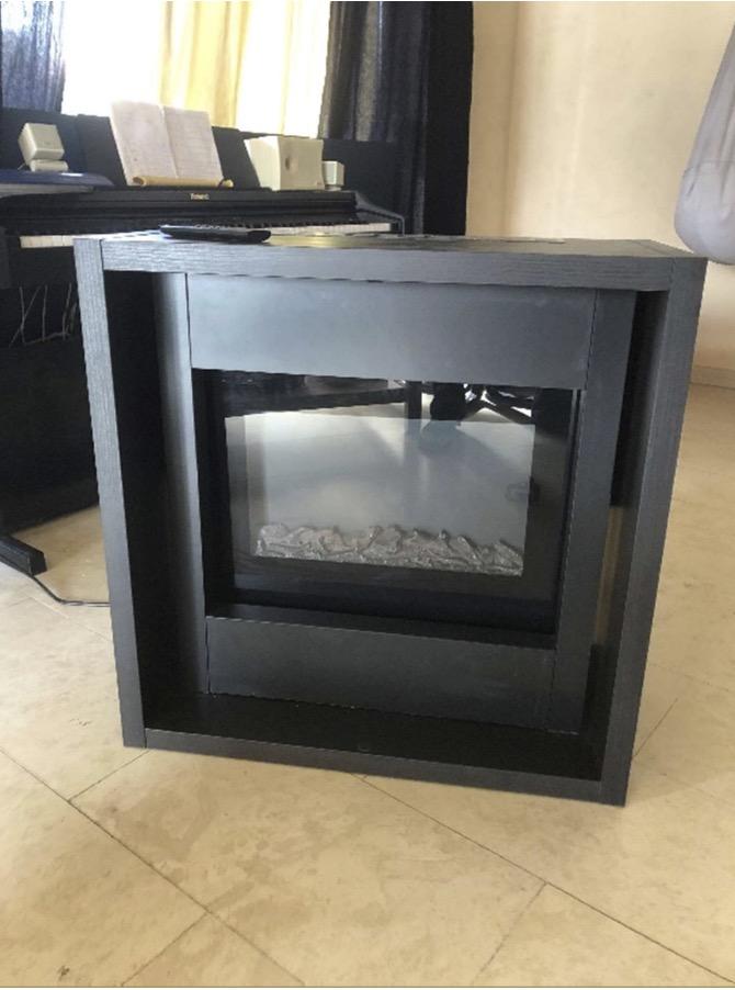 electric fireplace furniture hack