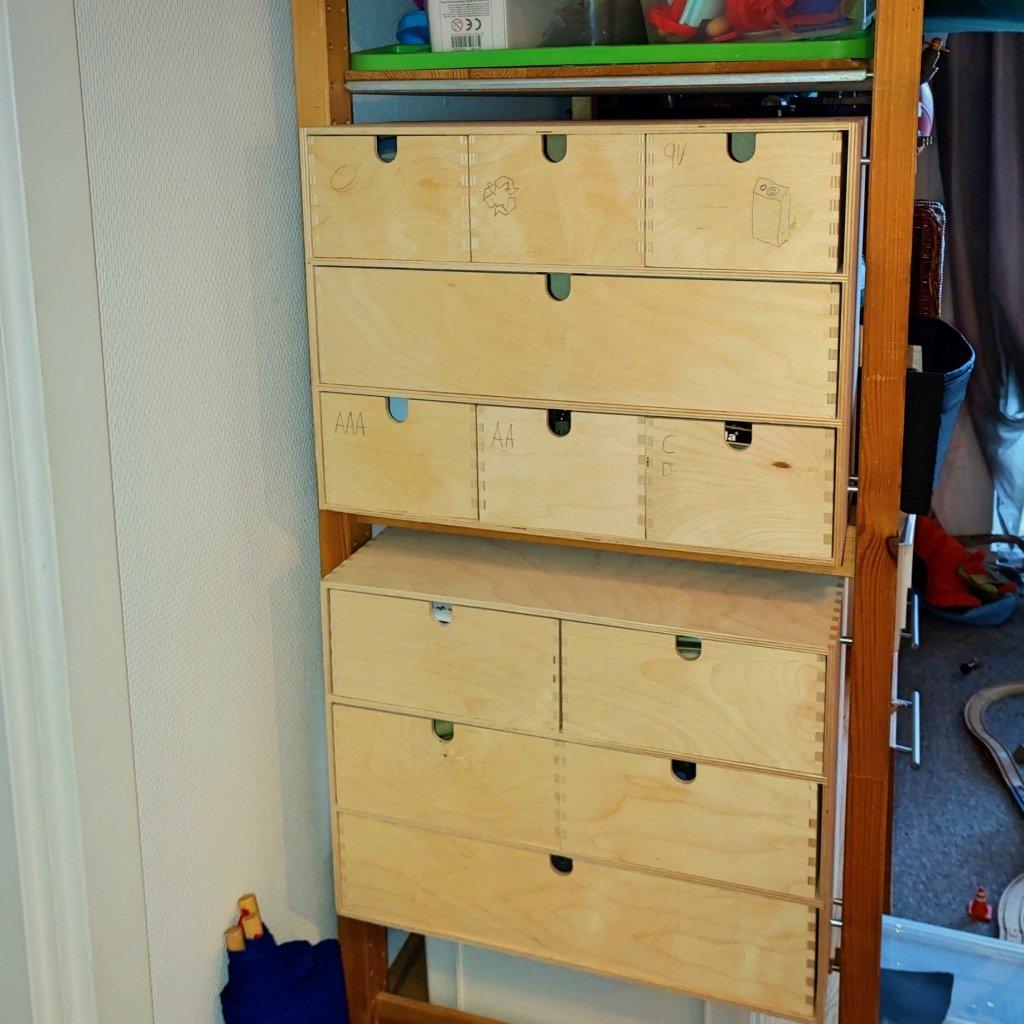 ivar moppe mini drawers