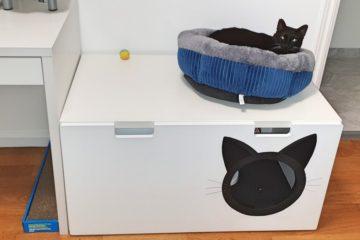 stuva bench cat litter box