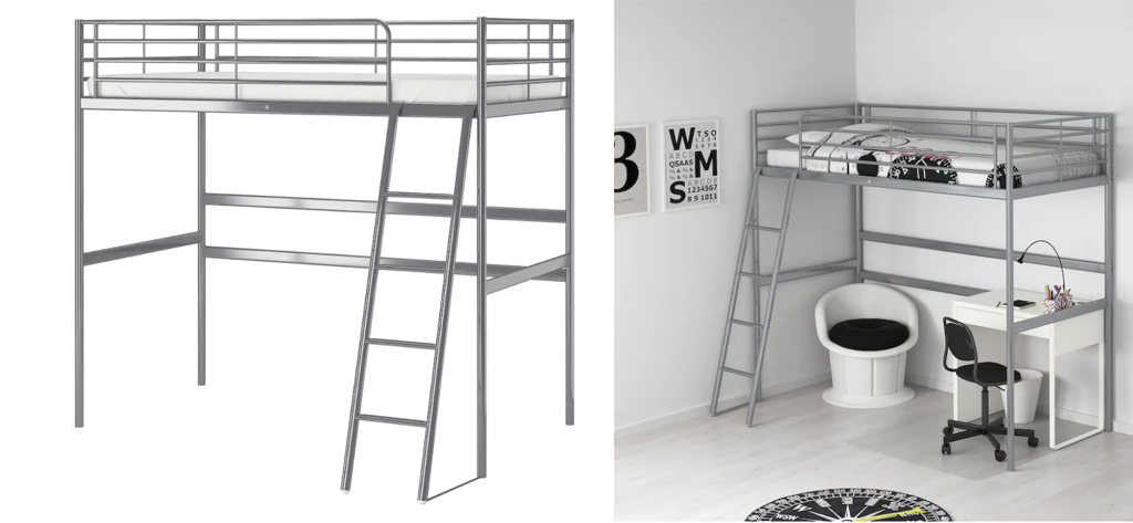 IKEA SVARTA double loft bed