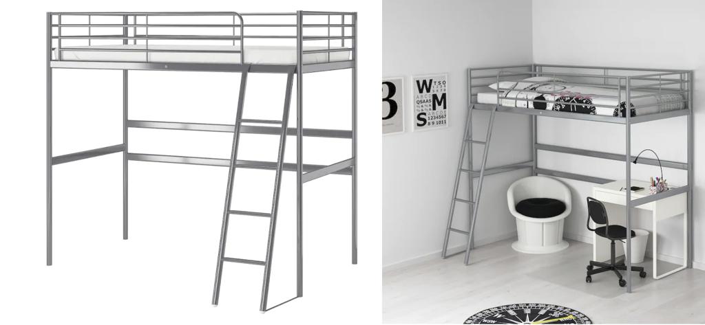 IKEA SVARTA double loft bed