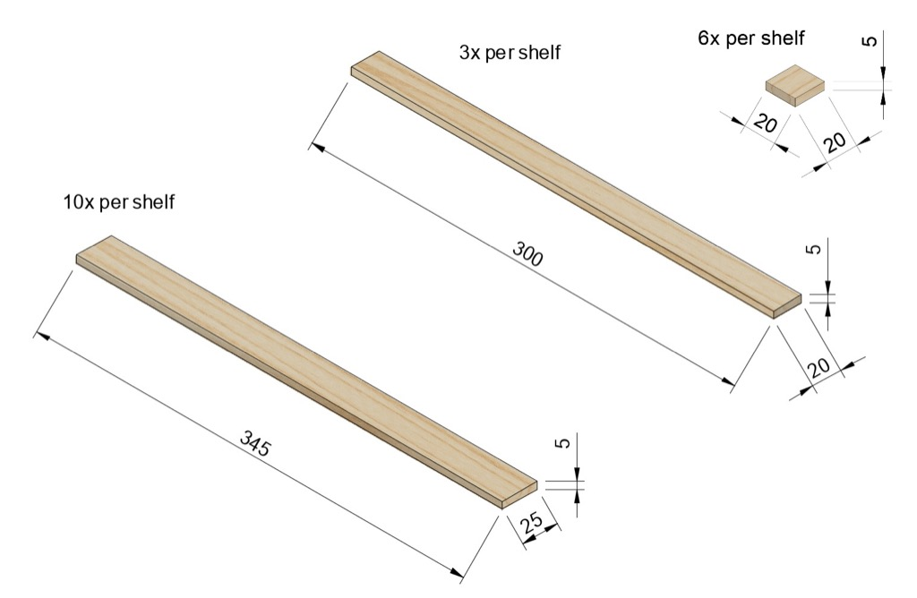 balsa wood strips