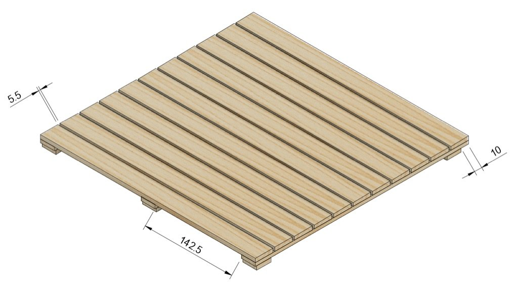 balsa wood pallet
