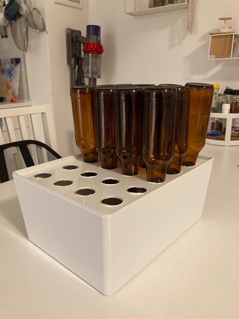 diy beer bottle drying rack