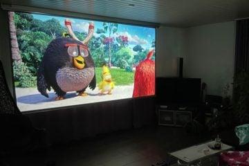 large projector screen ikea hack