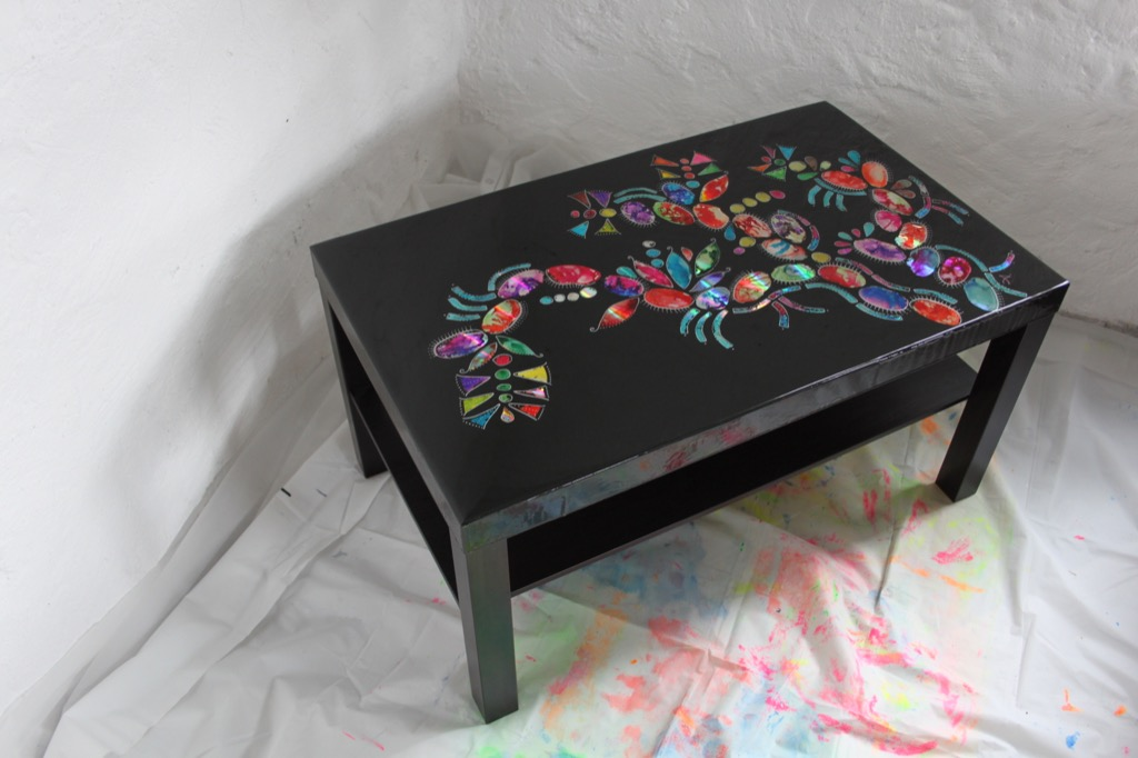 table art IKEA LACK hack