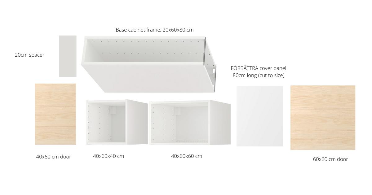 refrigerator gap filler ideas