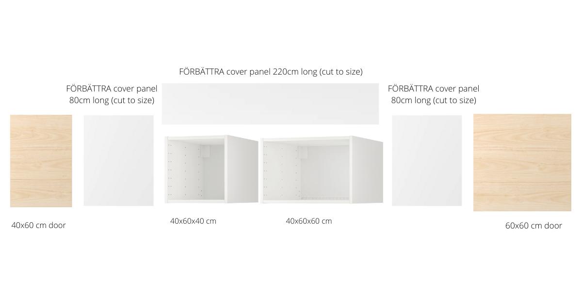 kitchen cabinet fridge gap cover panels