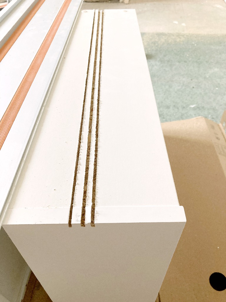 fitting KOMPLEMENT drawer around PAX hinge