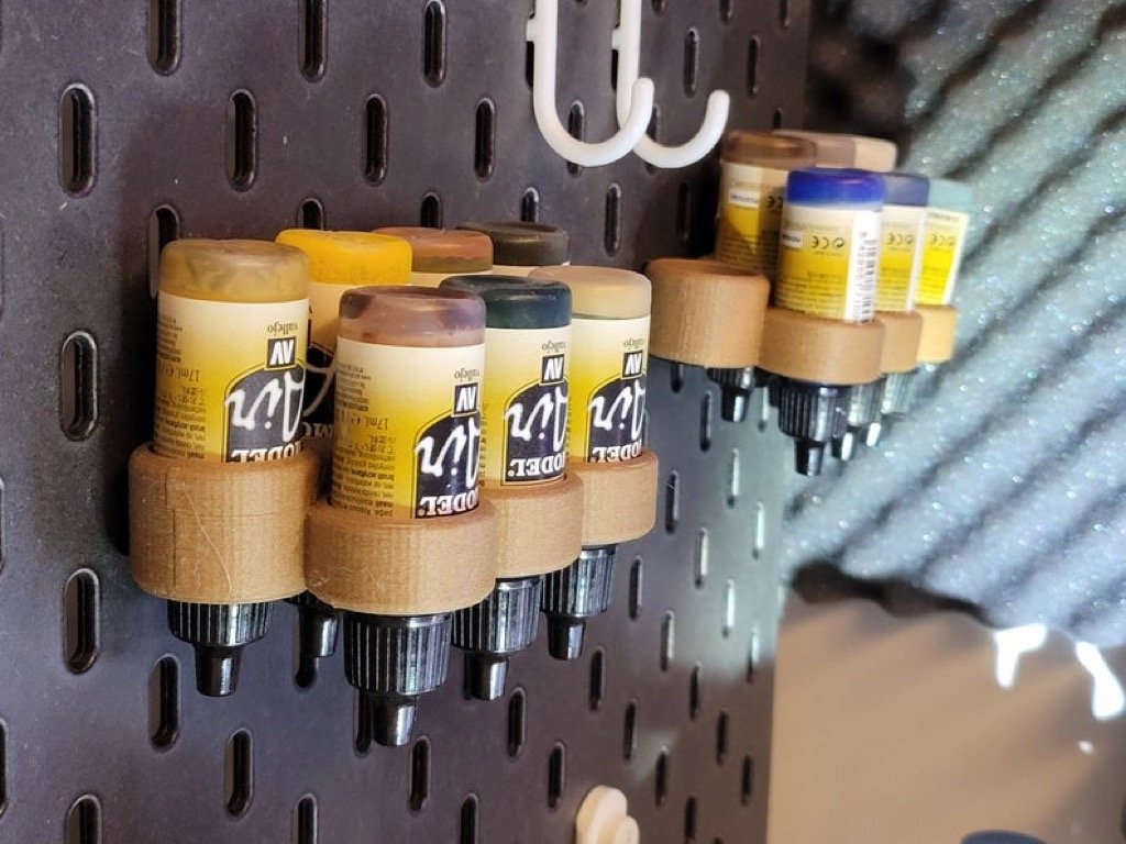 IKEA SKÅDIS pegboard accessories for paint bottles