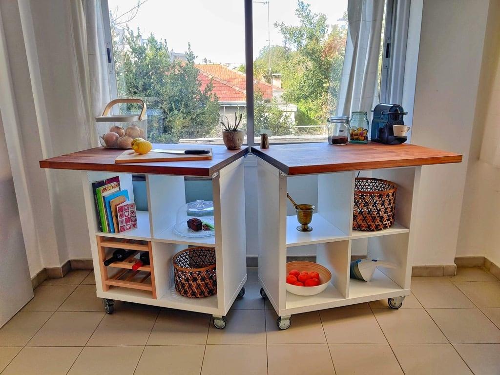 detachable portable kitchen island, IKEA hack