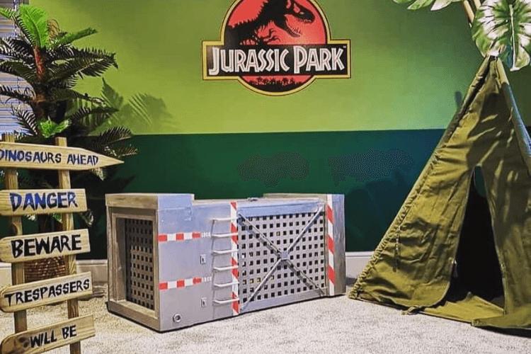 dinosaur box storage cage