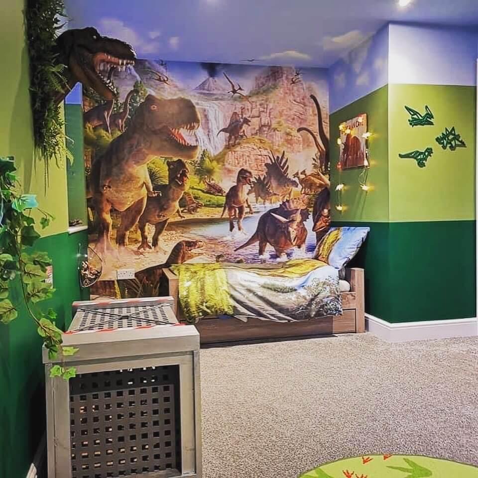 Jurassic world themed room