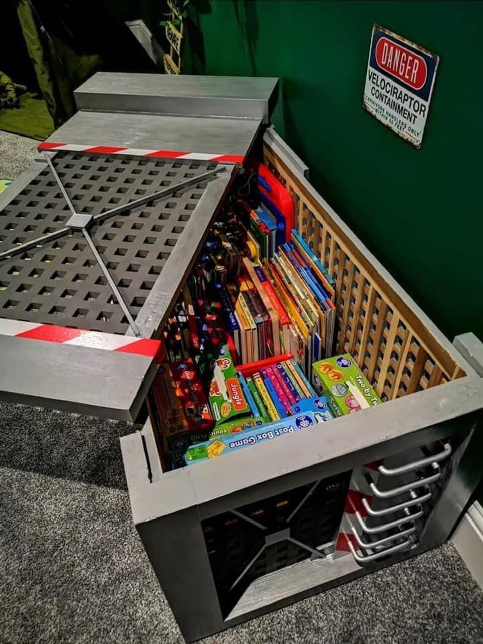IKEA Hol dinosaur box storage cage