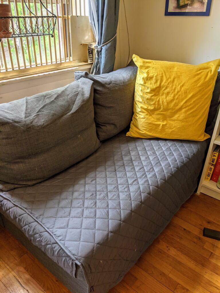 FRIHETEN sleeper sectional to chaise lounge