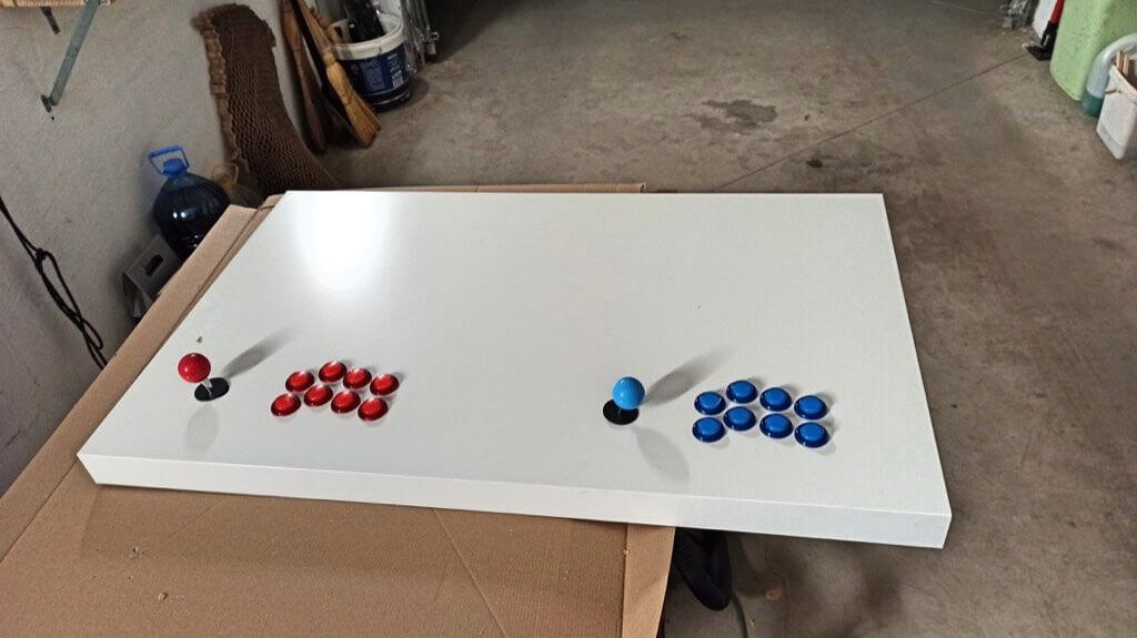 mount buttons and joysticks