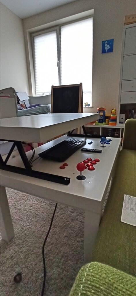 IKEA LACK RetroPie table hack