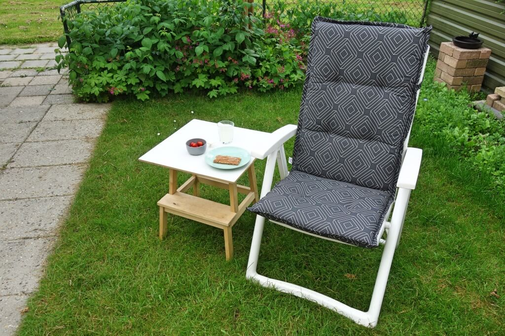 IKEA step stool side table