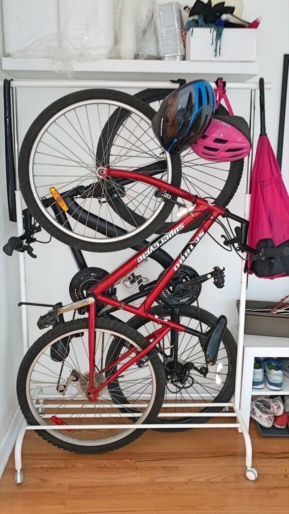 ikea freestanding bike rack