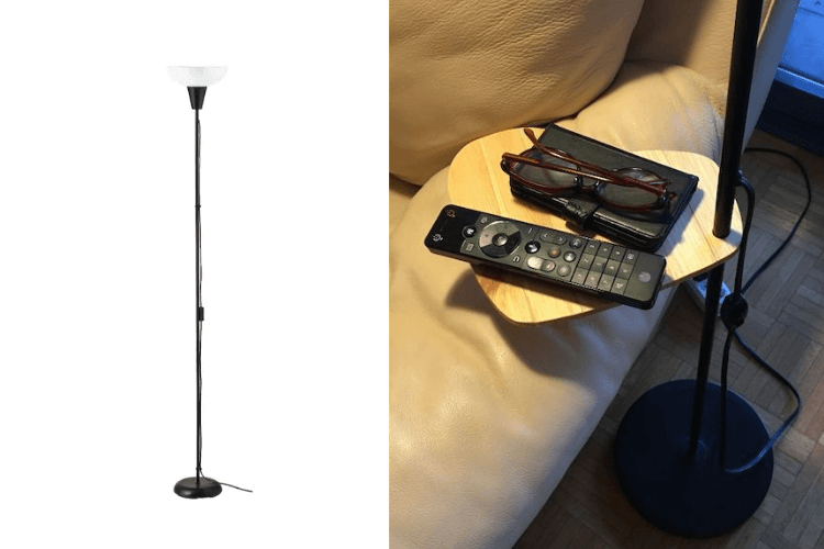 floor lamp shelf ikea