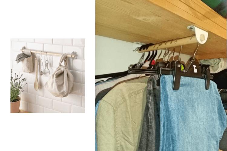 forward facing clothes rail ikea