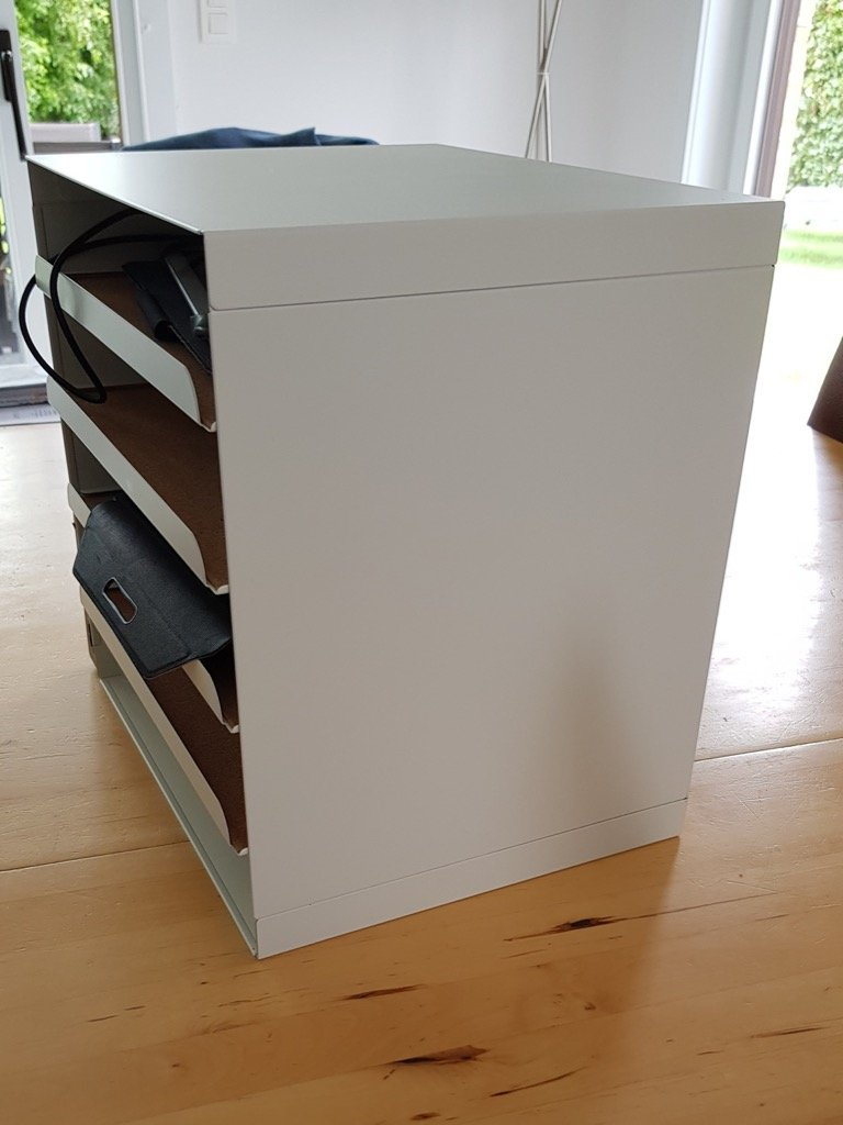 multiple device charging station ikea hack