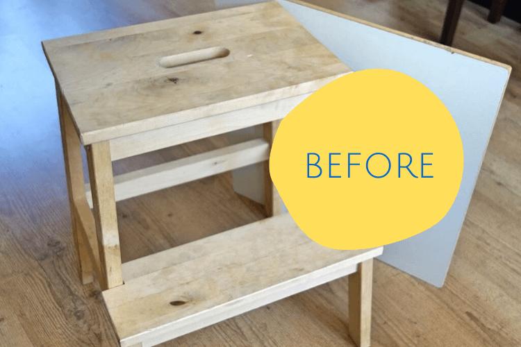 step stool side table