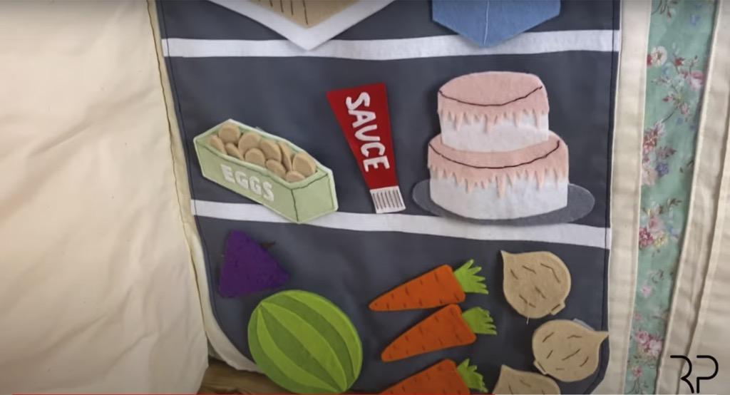 tablecloth playhouse fridge