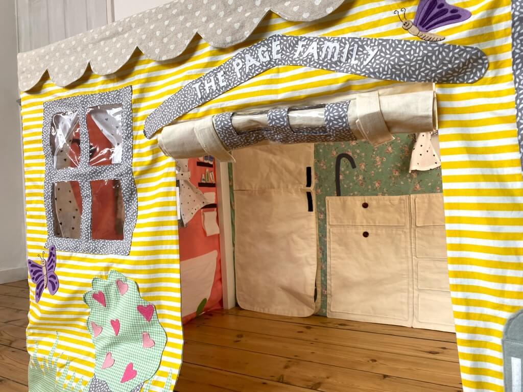 DIY tablecloth playhouse