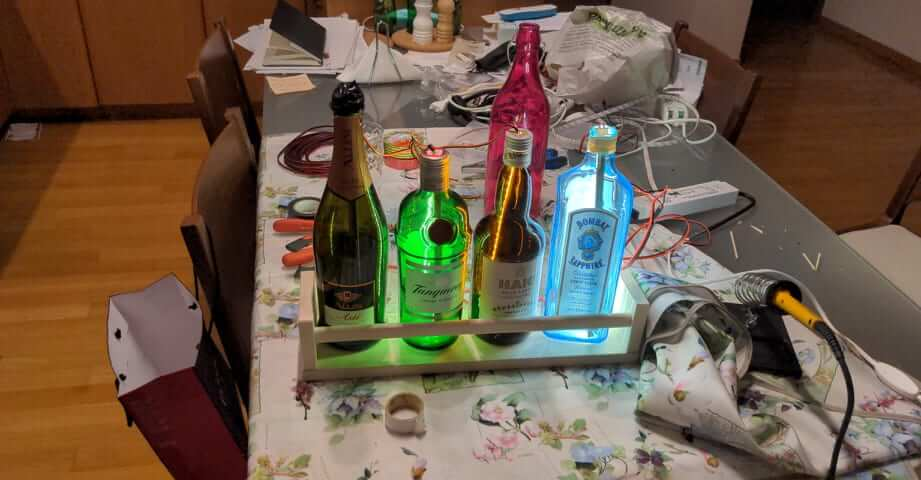 bottle lights ikea BEKVÄM
