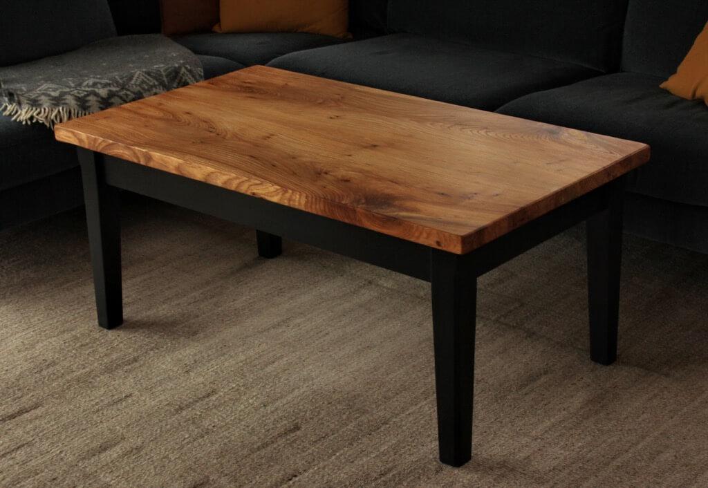 Old elm wood coffee table