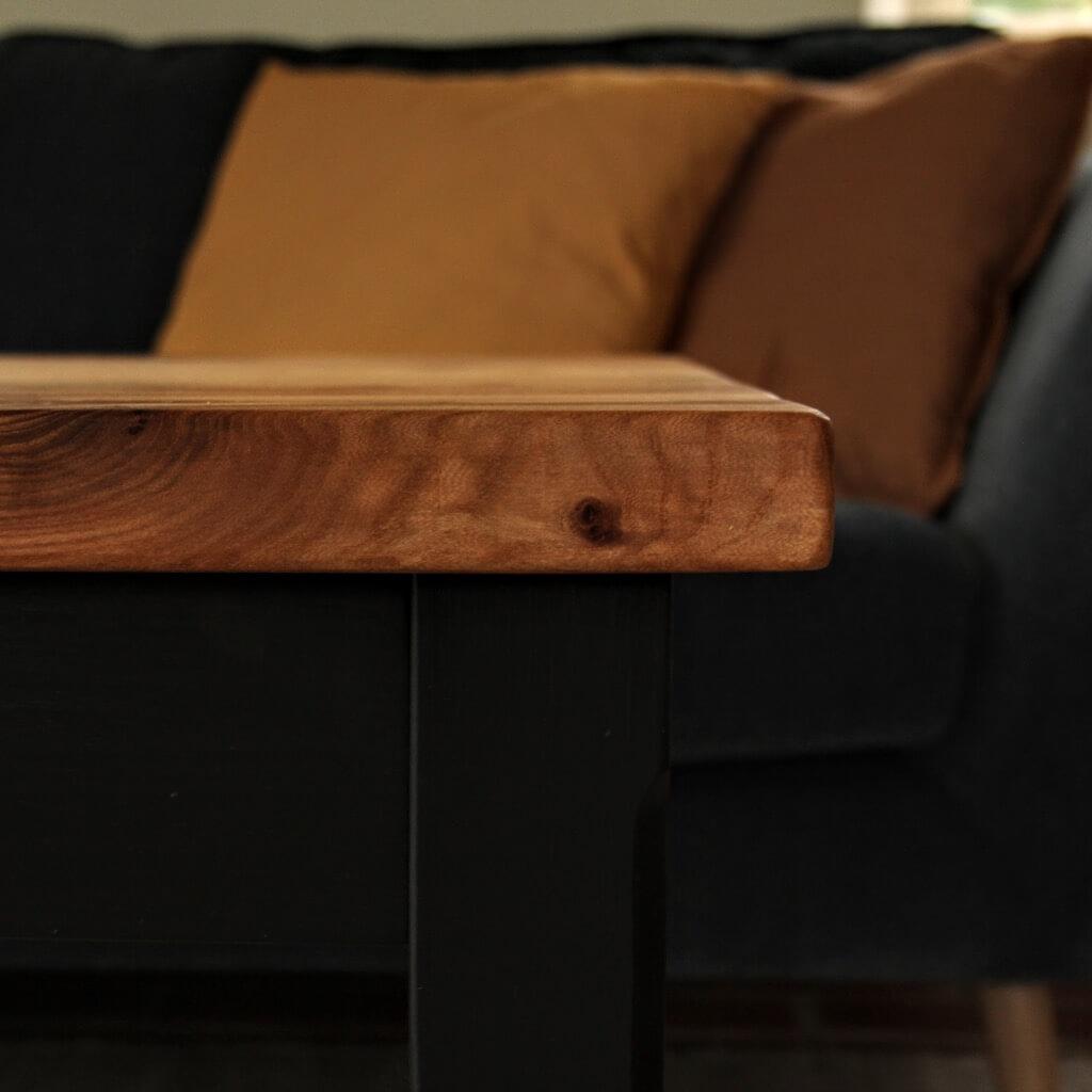old elm wood coffee table top