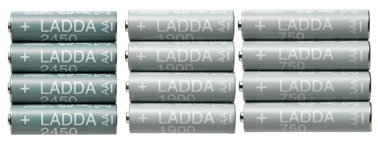 LADDA batteries