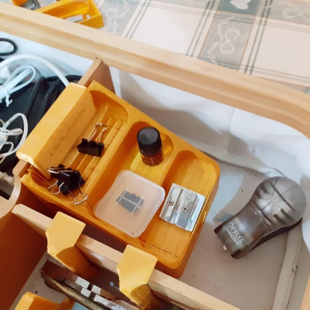 IKEA RABBLA box with compartments with multi tier storage