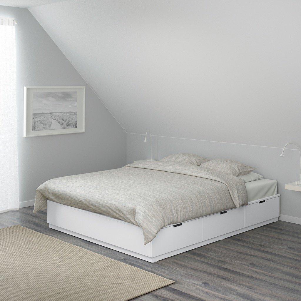 NORDLI queen bed with storage