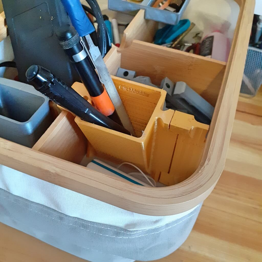 IKEA RABBLA box with compartments with pocket