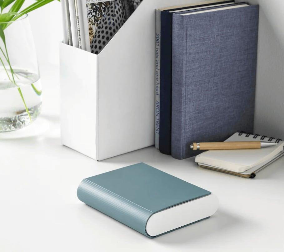 IKEA TJUGO battery charger folds like a book