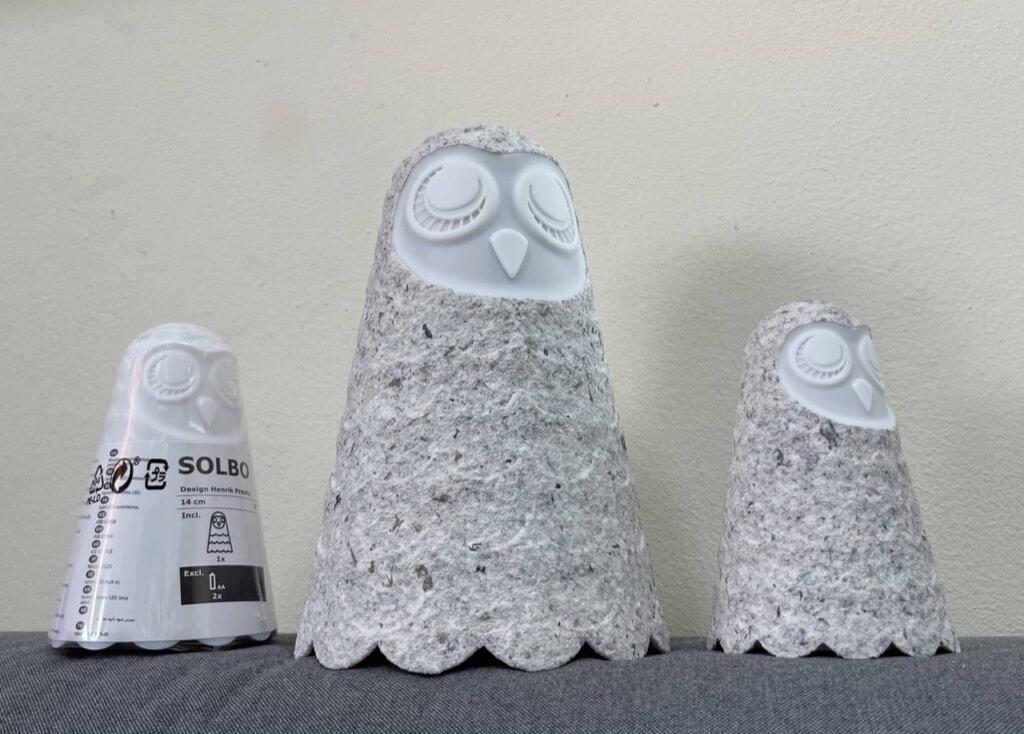 IKEA Owl Lamp in granite
