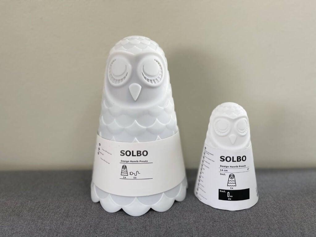 IKEA SOLBO owl lamp