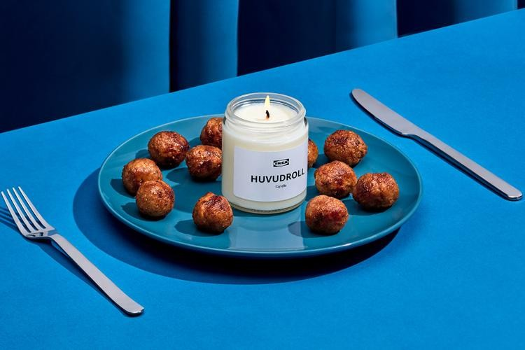 IKEA HUVUDROLL meatball scented candles for IKEA FAMILY celebration