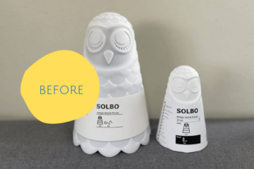 ikea owl lamp before