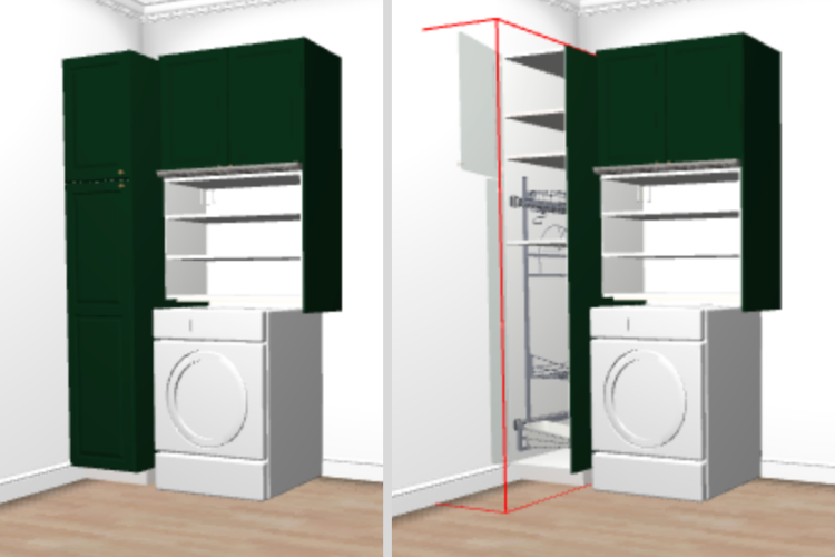 metod laundry room organization for front loader