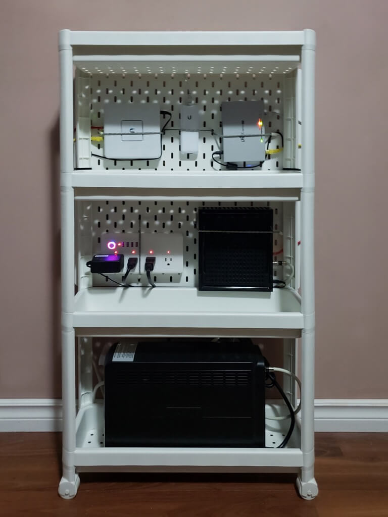DIY IKEA Home Networking Cart