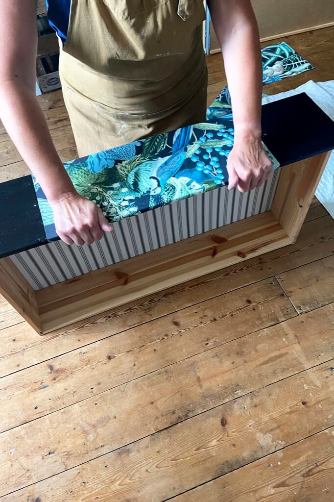IKEA HEMNES dresser makeover with wallpaper and paint